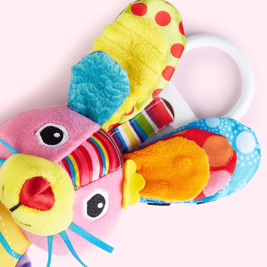 Multi Lamaze Bella the Bunny Clip & Go Toy