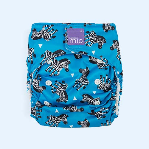 Zebra Crossing Bambino Mio Miosolo All-In-One Nappy