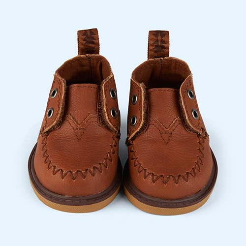 Brown Toms Tiny Toms Mock Leather Chukka Boot