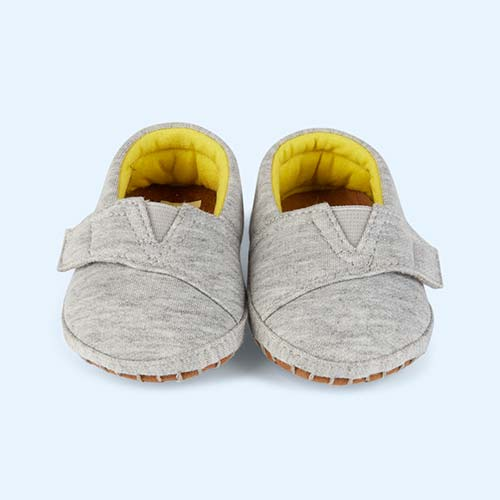 Grey Toms Tiny Toms Jersey Crib Alpargata Shoe