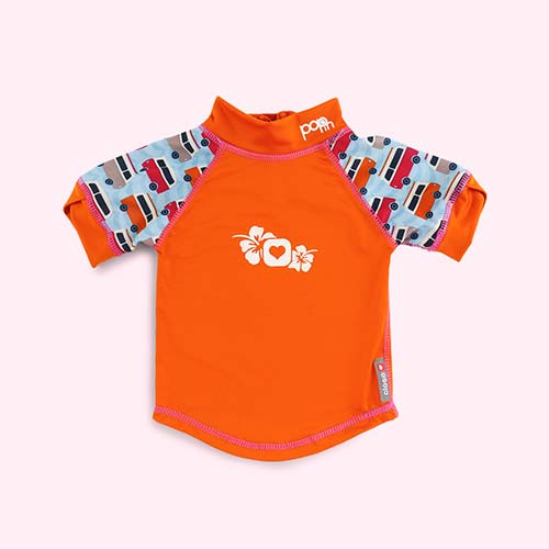 Orange Close Pop In Rash Vest