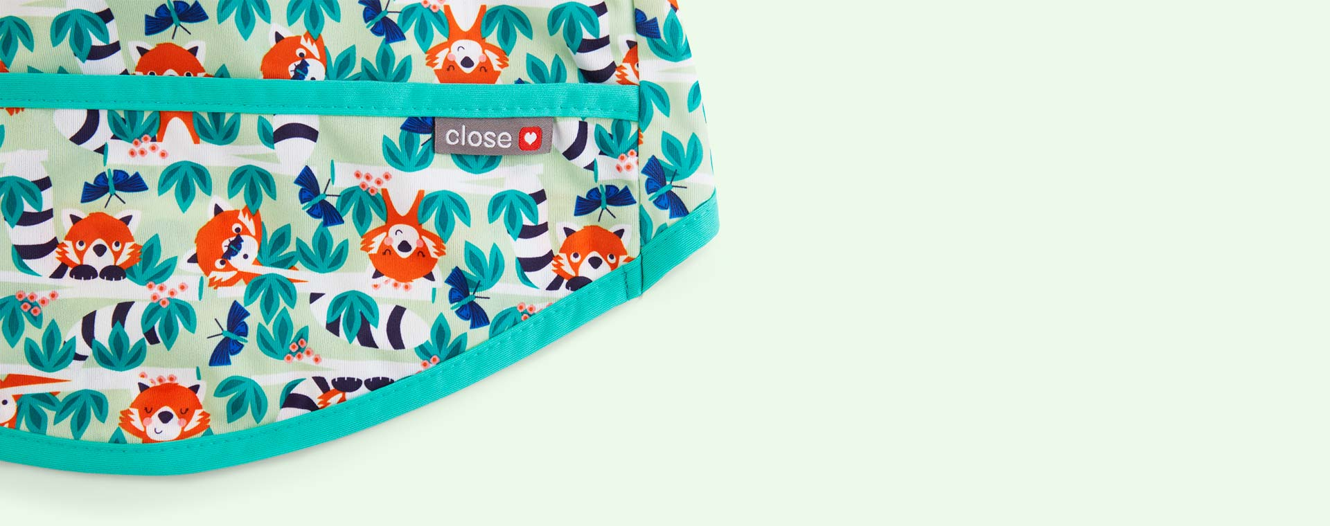 Red Panda Close Pop In Coverall Bib