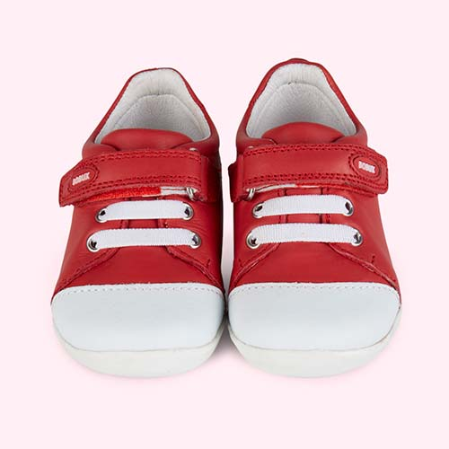 Red Bobux Step Up Classic Scribble Sport Shoe