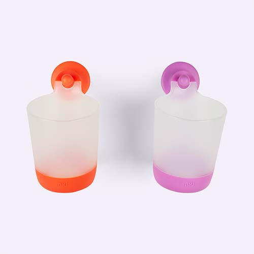 Lilac/Tangerine Puj Phillup Drinking Cup & Hook - 2 Pack