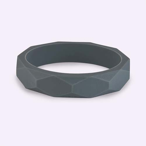 Grey Lara + Ollie Teething Bangle