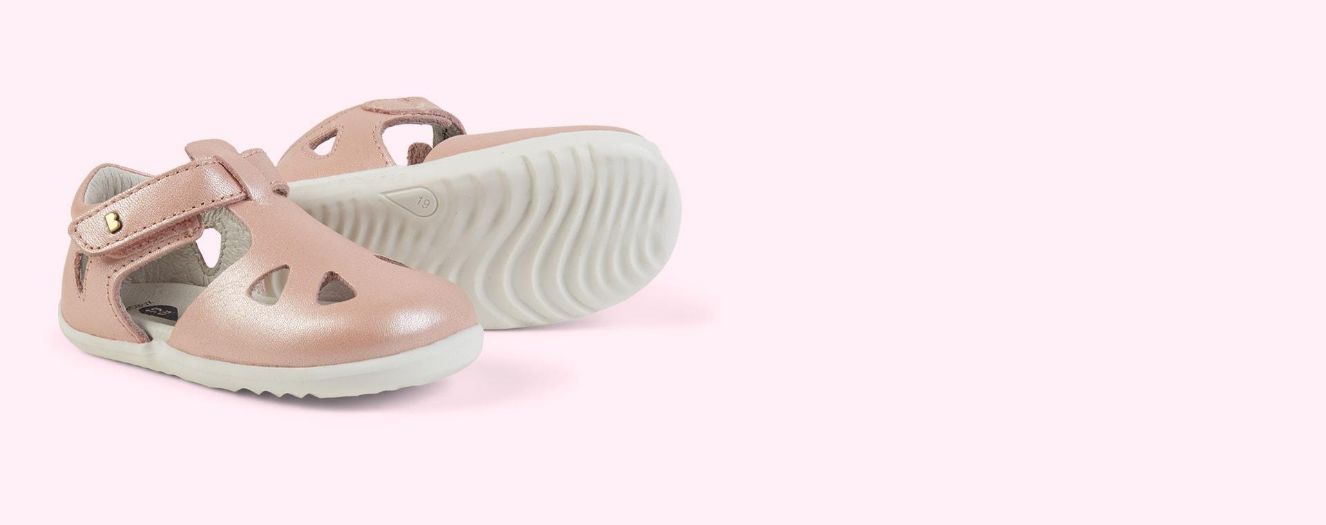 Seashell Bobux Step Up Classic Zap Sandal