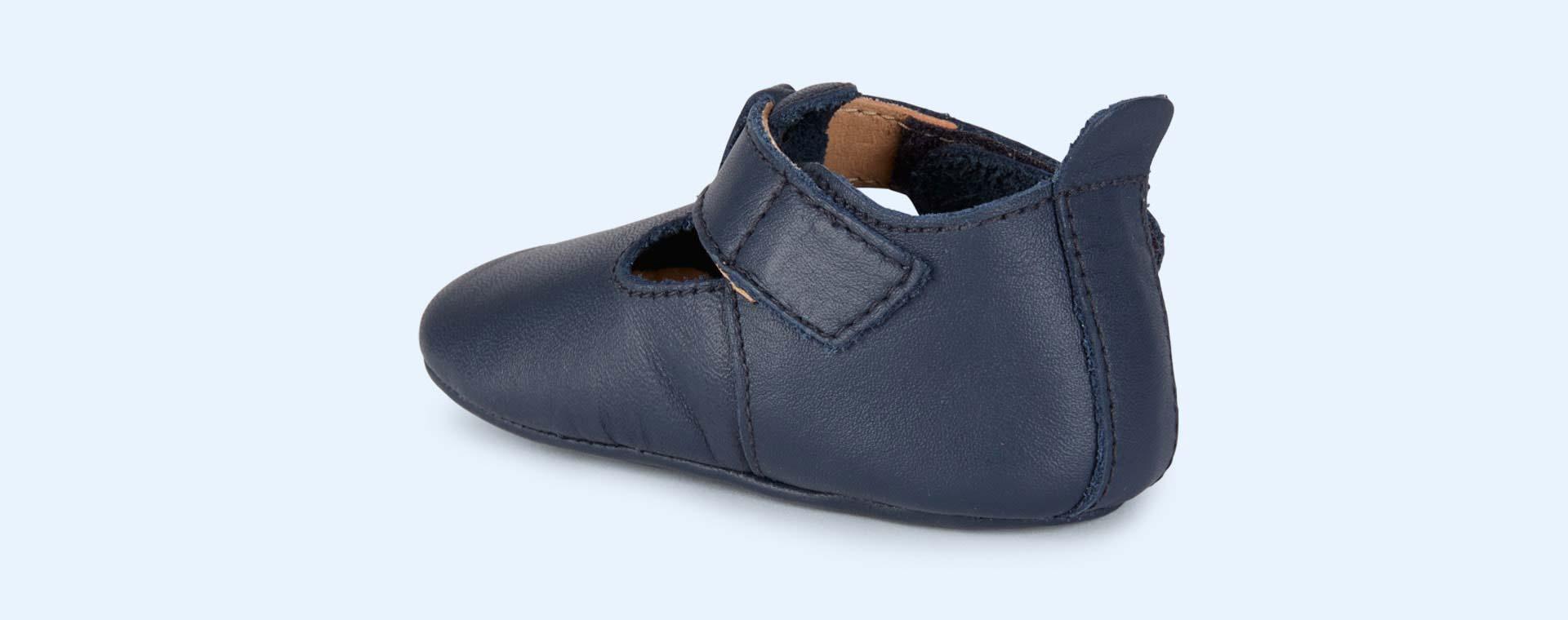 Navy Bobux Soft Sole Classic T-Bar Shoe