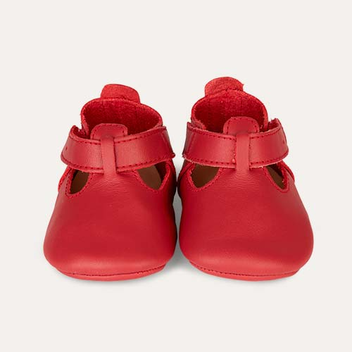 Red Bobux Soft Sole Classic T-Bar Shoe