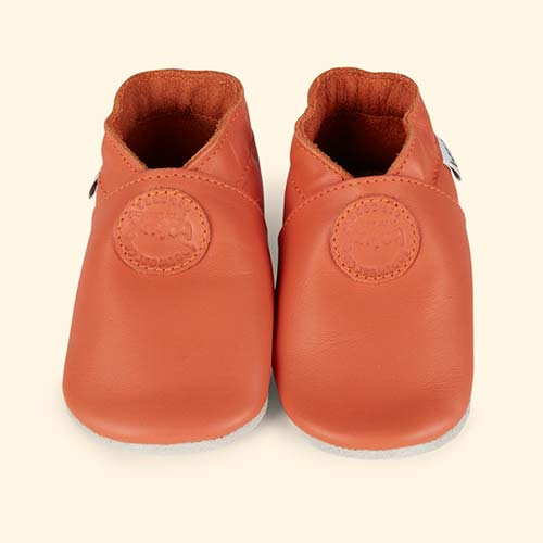 Orange Bobux Classic Dot Soft Sole Shoe