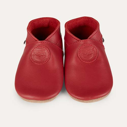 Red Bobux Classic Dot Soft Sole Shoe