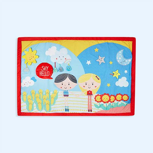 Multi East Coast Nursery 'Say Hello' Friends Double-Sided Activity Mat