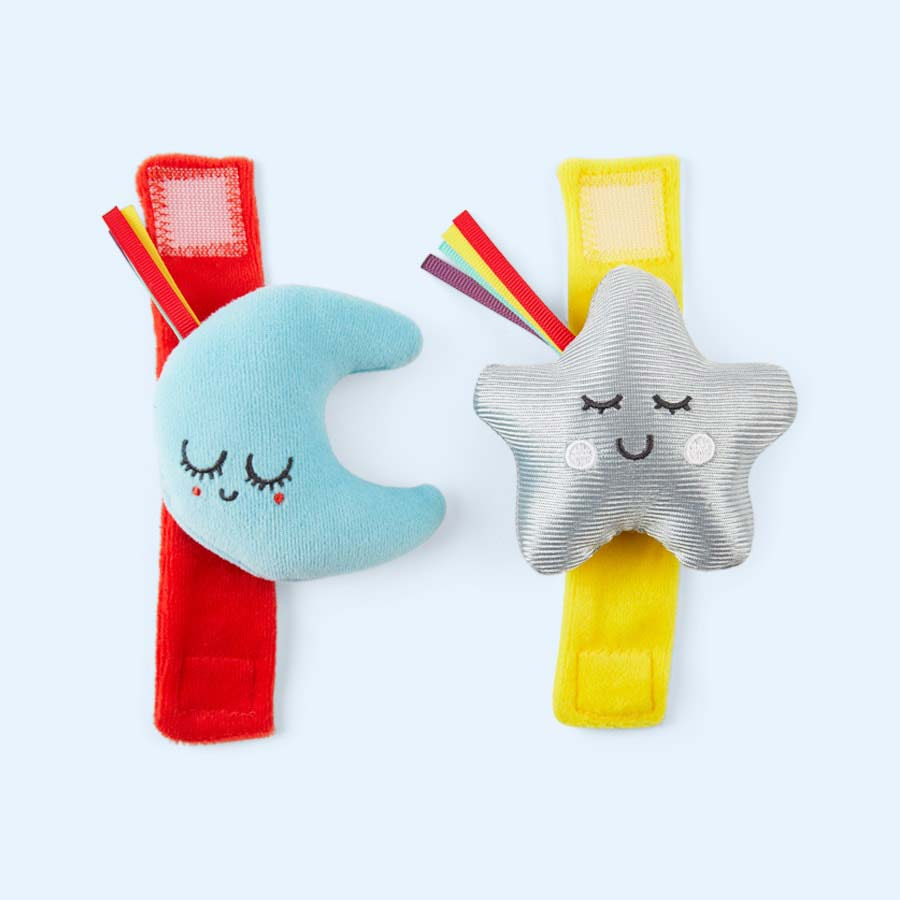 Multi East Coast Nursery 'Say Hello' Wrist & Ankle Rattles