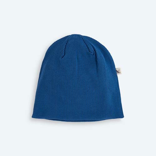 Midnight Blue KIDLY's Own Ribbed Beanie