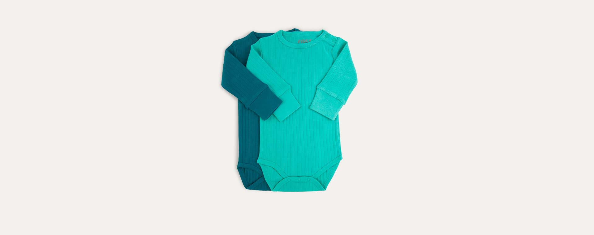 Green KIDLY Label Long Sleeve Bodysuit - 2 Pack