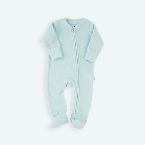 Plume KIDLY's Own Zip Front Sleepsuit