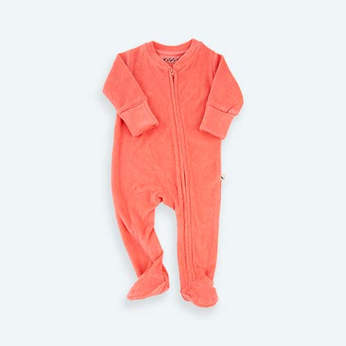 Sugar Coral KIDLY's Own Zip Front Sleepsuit
