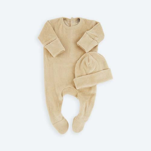 Sand KIDLY's Own Velour Newborn Set