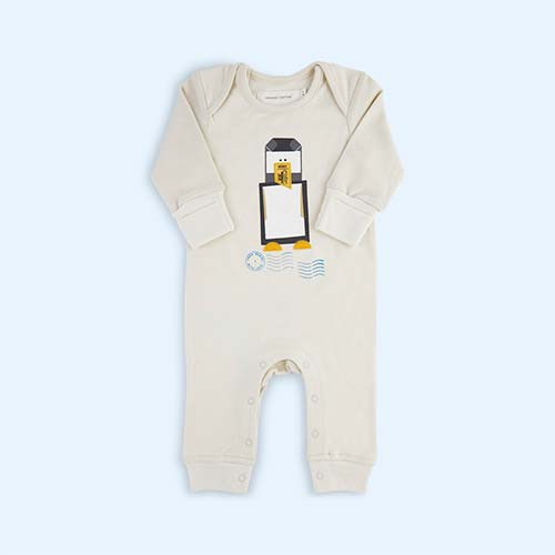 Penguin From Babies With Love Organic Babygrow