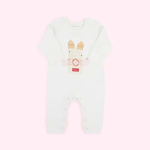 Rabbit From Babies With Love Organic Babygrow