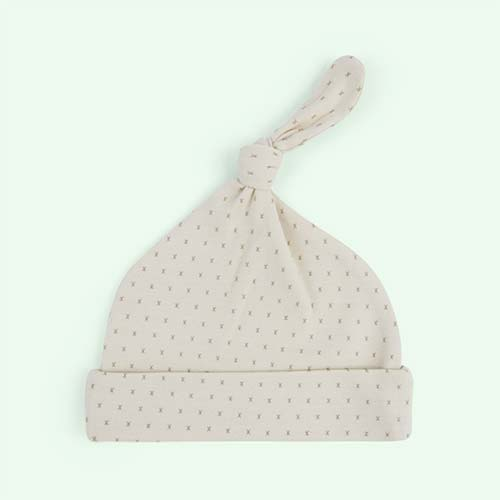 French Grey From Babies With Love Organic Knot Hat