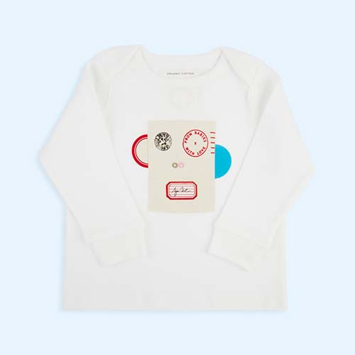 Monkey From Babies With Love Organic Long Sleeve Tee