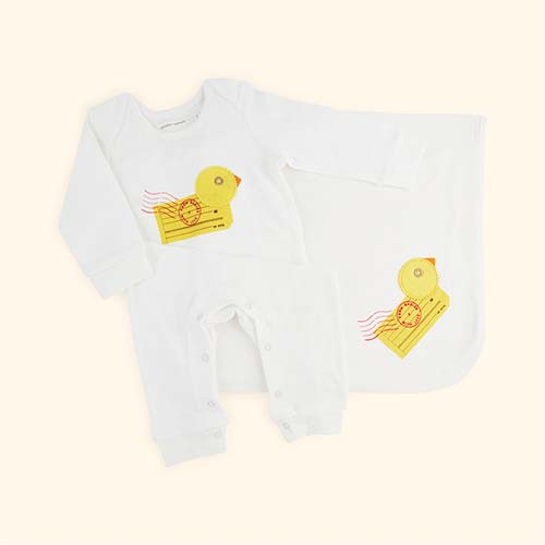 Duck From Babies With Love Organic Cotton Gift Set