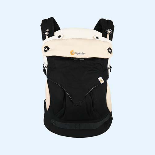 Black/Camel Ergobaby 360 Baby Carrier & Insert
