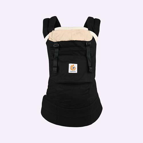 Black/Camel Ergobaby Original Baby Carrier & Insert