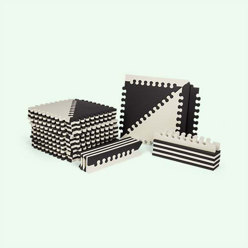 Black Skip Hop Playspots Foam Floor Tiles