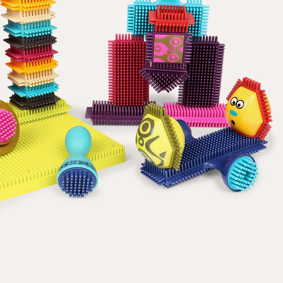 Multi B. Toys Bristle Block Spinaroos