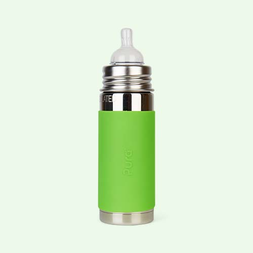 Green Pura 9oz Insulated Infant Bottle