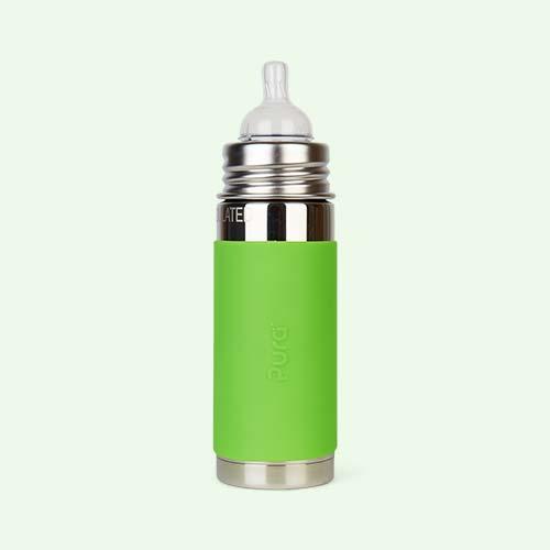 Green Pura 9oz Insulated Infant Bottle