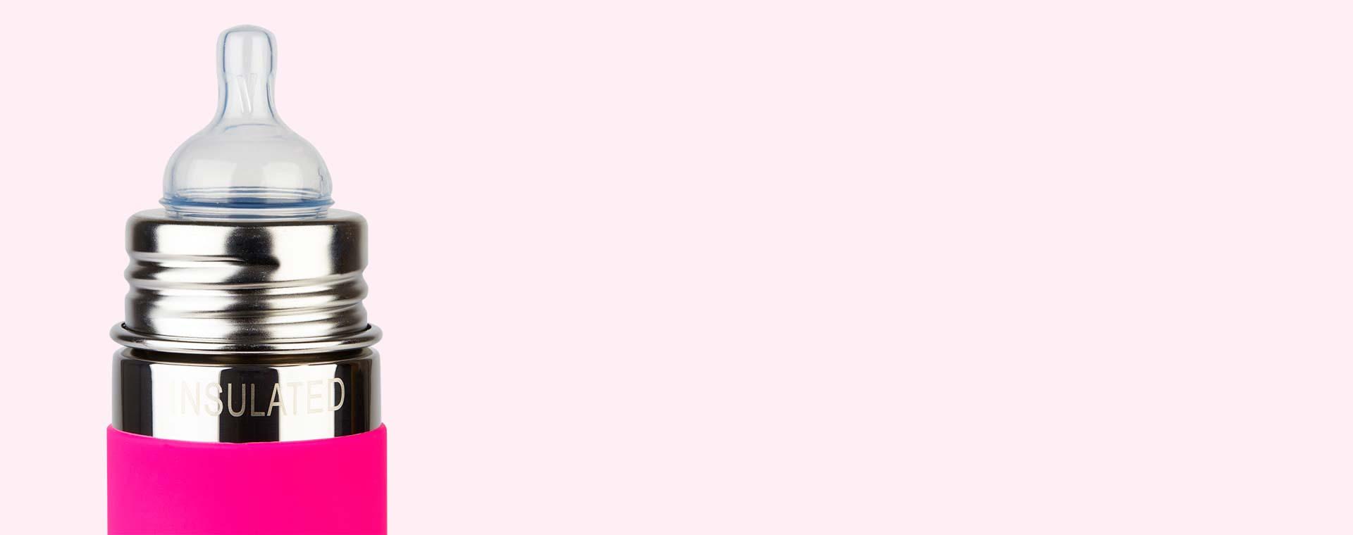 Pink Pura Pura 9oz Insulated Infant Bottle