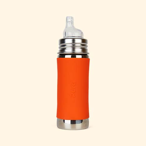 Orange Pura 11oz Toddler Bottle