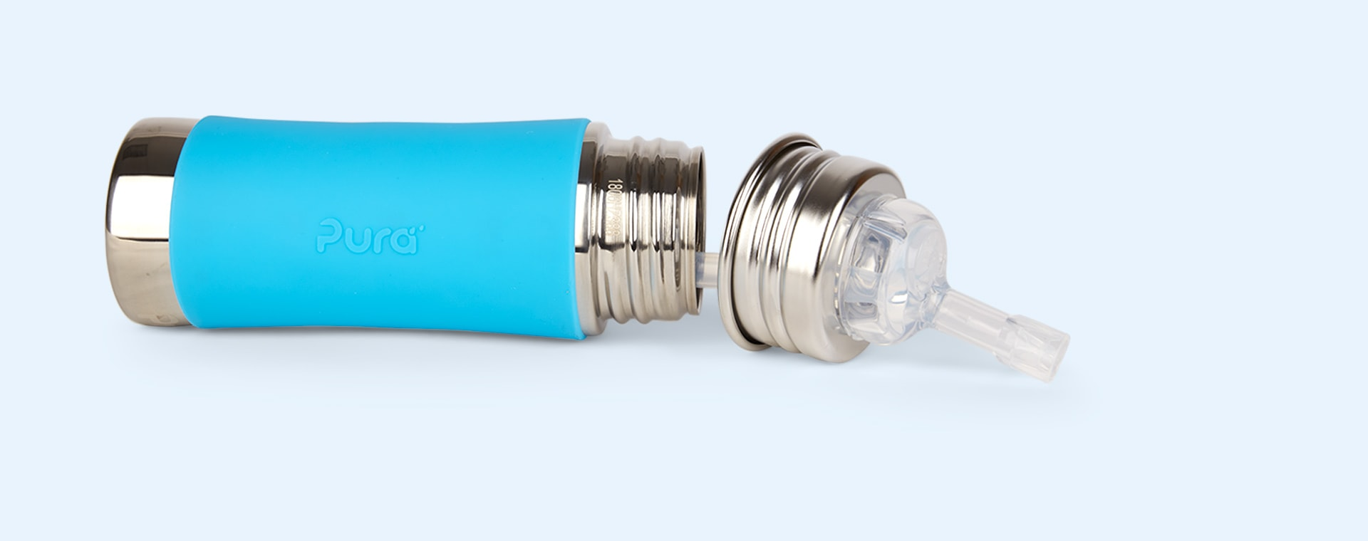Aqua Pura 11oz Straw Bottle