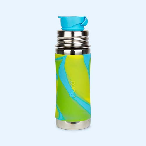 Aqua Swirl Pura 11oz Junior Sports Bottle