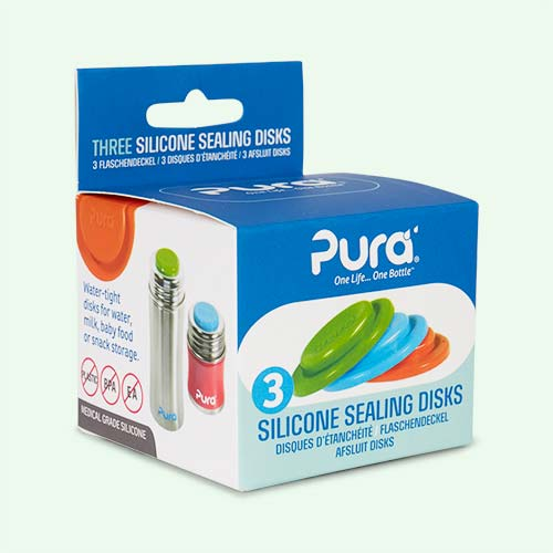 Multi Pura Silicone Sealing Disk - 3 Pack
