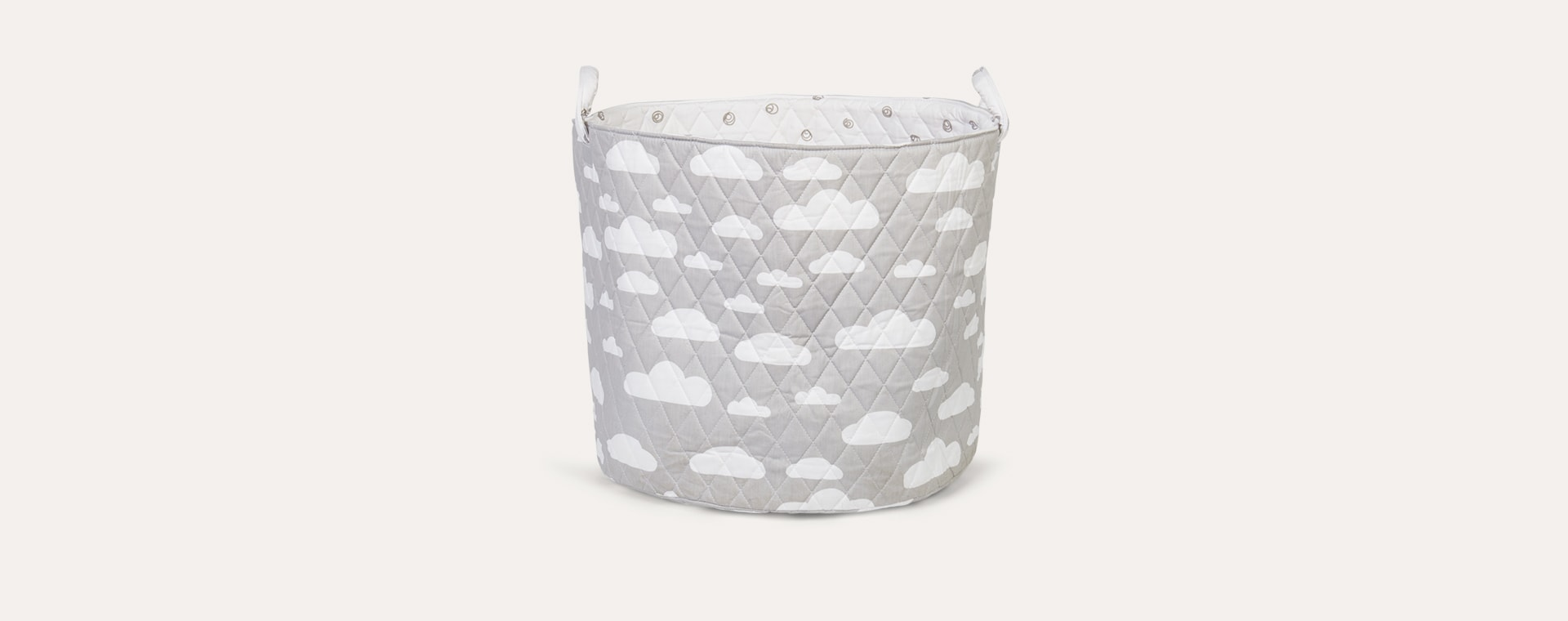 Clouds Light Grey Minene Large Storage Basket