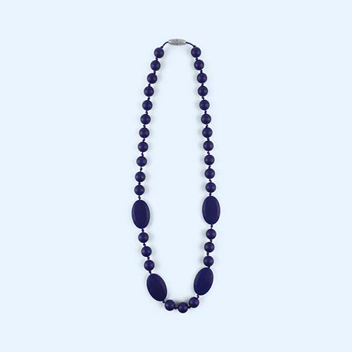 Navy Mama+Belle Lily Necklace