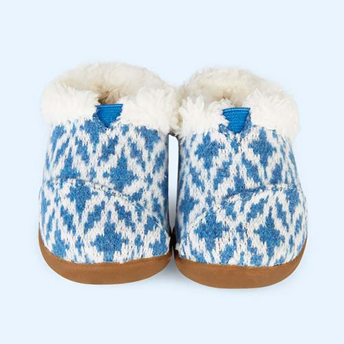 Fair Isle Blue Toms Tiny Toms House Slipper