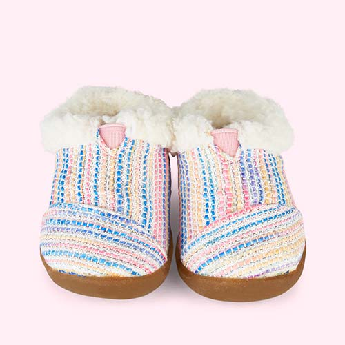 Metallic Woven Pink TOMS House Slipper