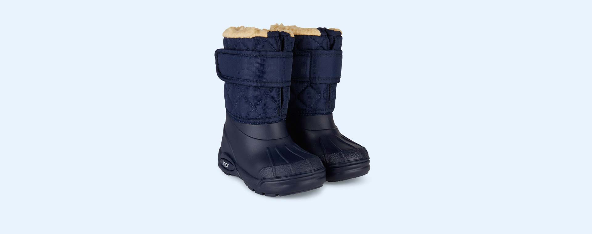 Navy igor Fur Lined Topo Ski Boot