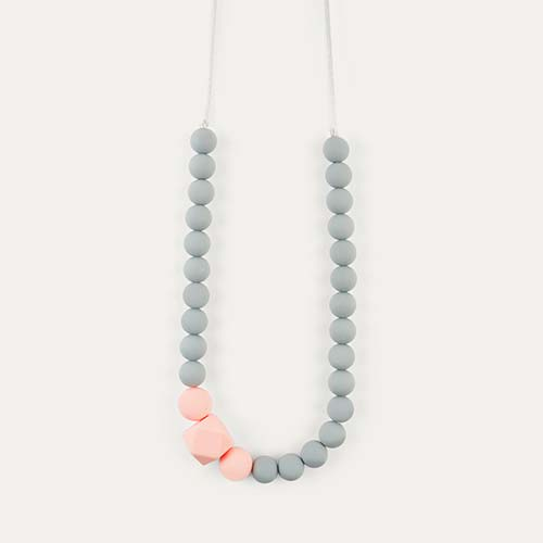 Coral Blossom & Bear Colour Pop Teething Necklace