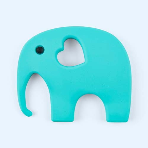 Turquoise Blossom & Bear Elephant Teether