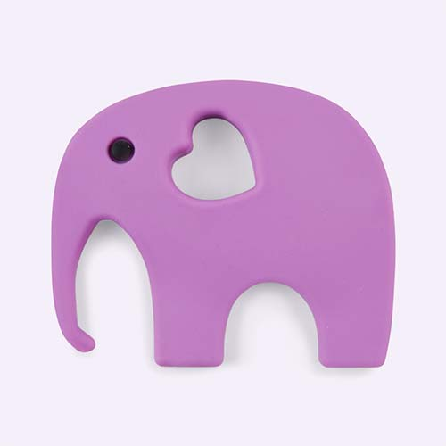 Purple Blossom & Bear Elephant Teether