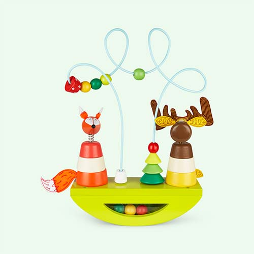 Multi Janod Zigolos Elk & Fox Looping Stacker & Rocker