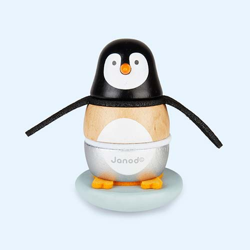 Black Janod Zigolos Penguin Stacker & Rocker