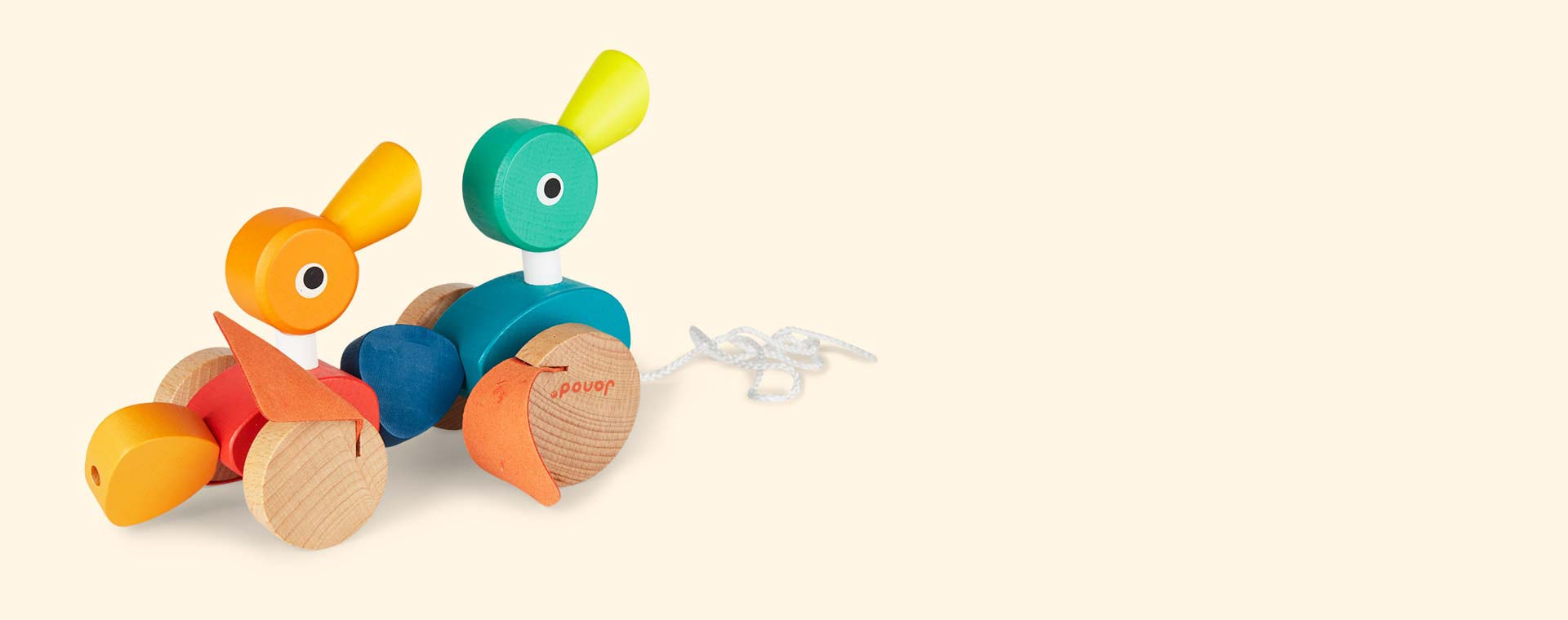 Multi Janod Duck Family Pull along Toy
