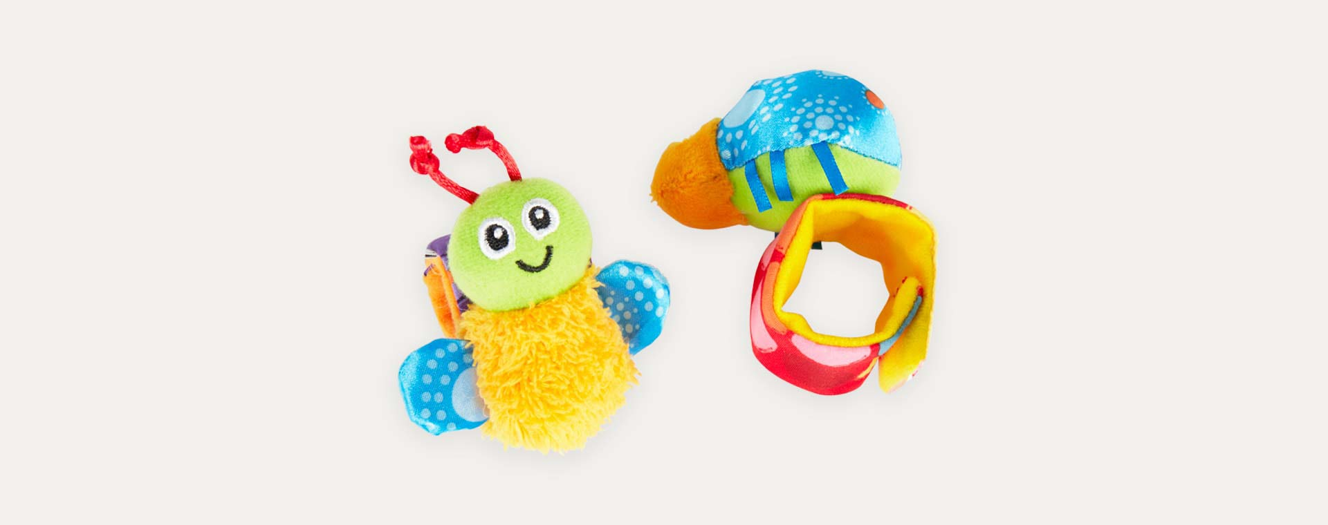 Multi Lamaze Gardenbug Wrist Rattle and Foot Finder Set