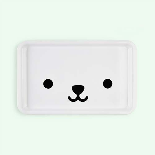 White Buddy & Bear Bear Tray